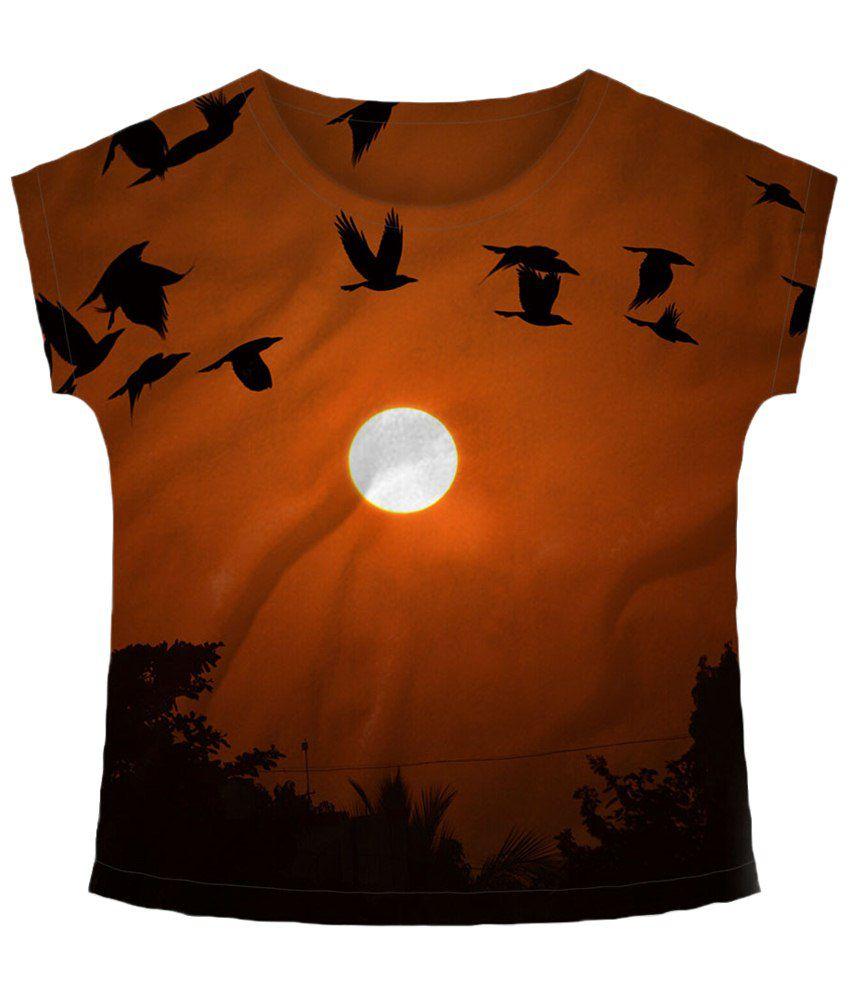 Freecultr Express Bird Brown Graphic T Shirt