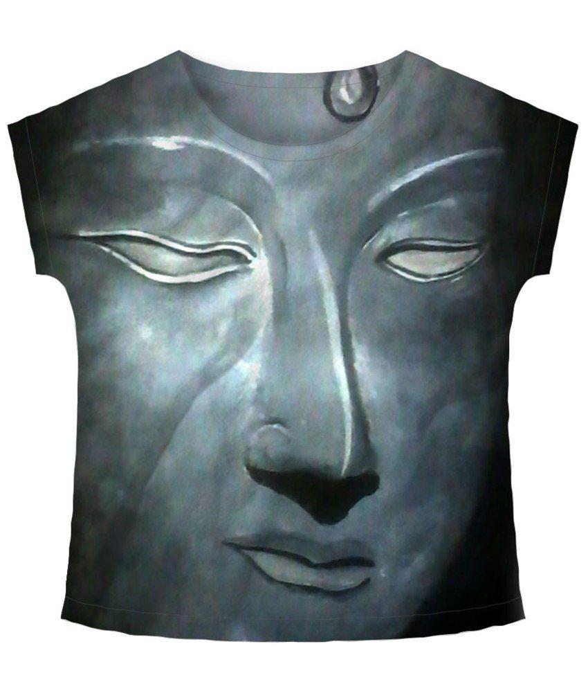 Freecultr Express Trance Gray & Black Graphic T Shirt