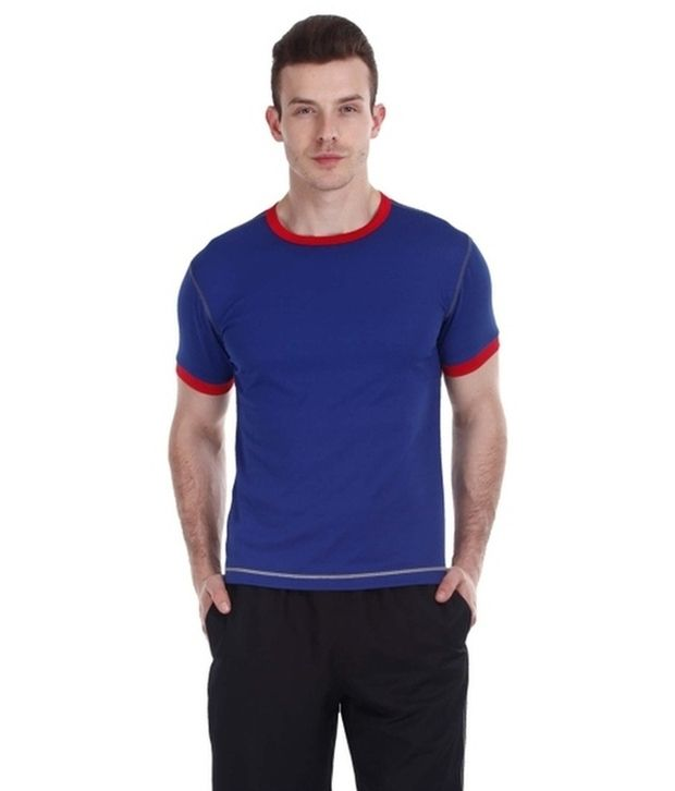 Zobello Multicolour Polyester Fitness T Shirt