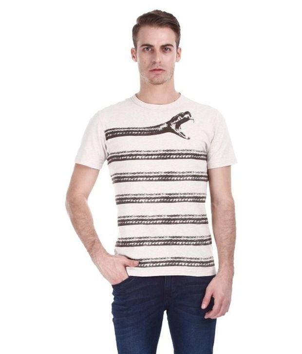 Zobello White Cotton T Shirt