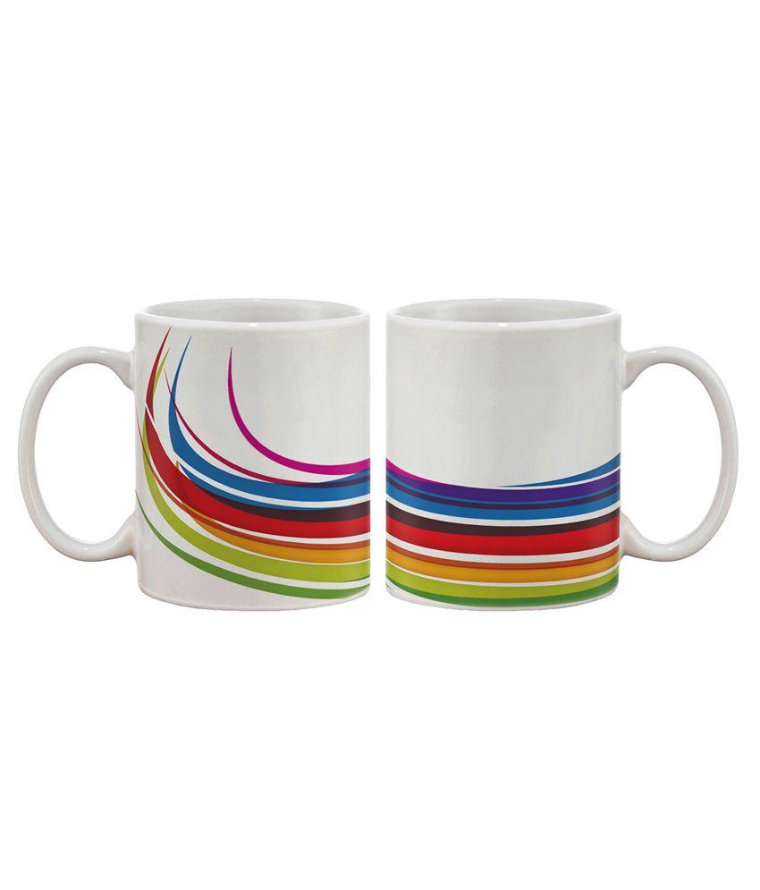 Artifa Colourful Track Coffee Mug