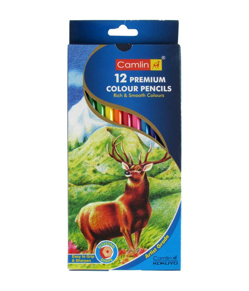 Camlin Premium Colour Pencil Full Size-12 Shades