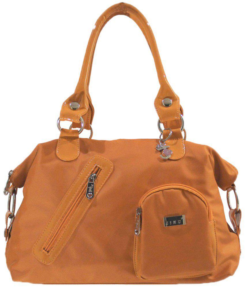 Jinu JINUA8264 Orange Satchel Bags