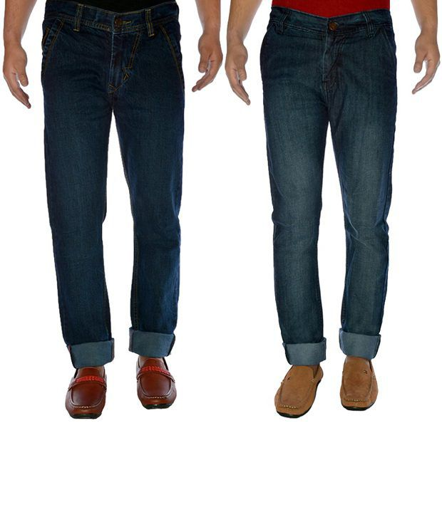 K-SAN Cotton Denim Jenas Pack Of 2