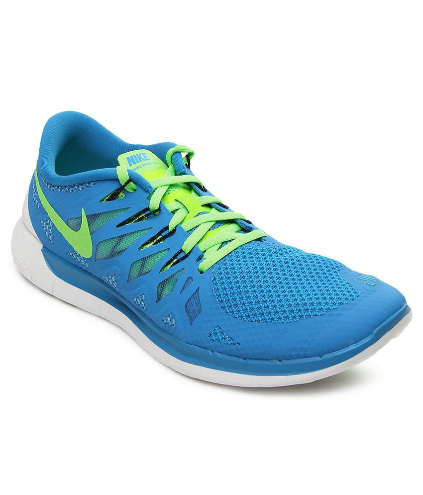 8c375361c1141 Nike Free 5.0 Blue Sport Shoes - Buy Nike Free 5.0 Blue Sport Shoes Online  at Best Prices in India on Snapdeal