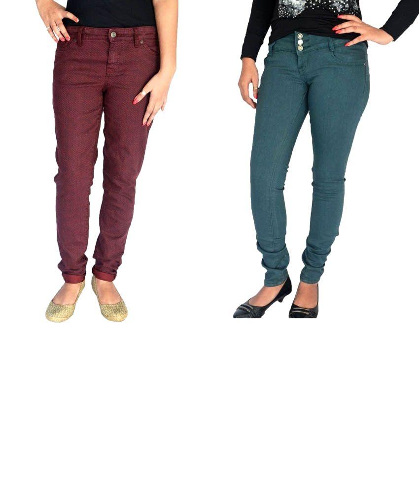 Londonhouze Multi Cotton Jeans