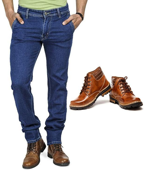 Eprilla Combo of Men's Jeans With Boots