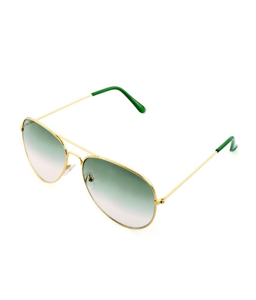 Laurels AVP-0713 Green Aviator Frame Sunglasses
