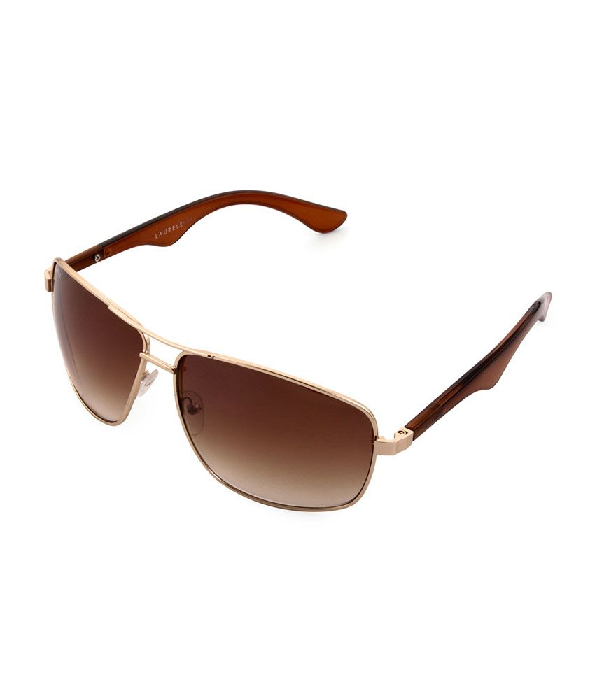Laurels RT-0202 Brown Rectangle Frame Sunglasses