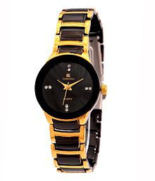 Iik Collection Black Metal Round Analog Watch