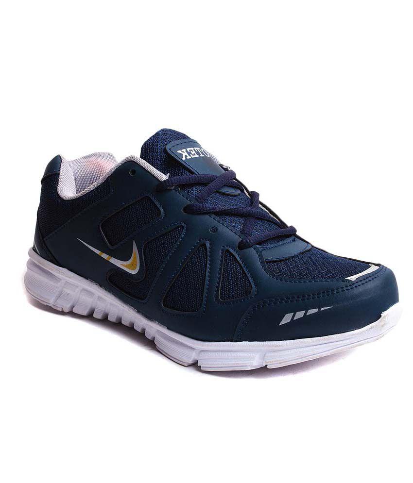 Hm-evotek Blue Synthetic Leather Running Men Sport Shoes