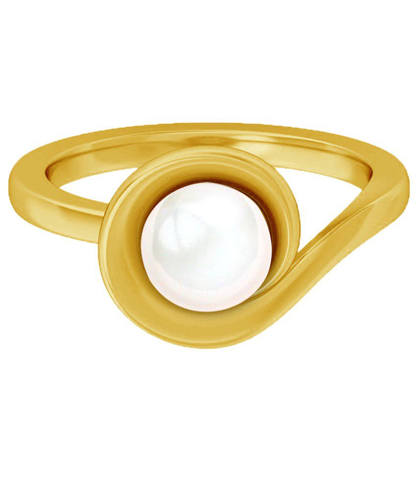 Jacknjewel ROUND PEARL GOLD RING
