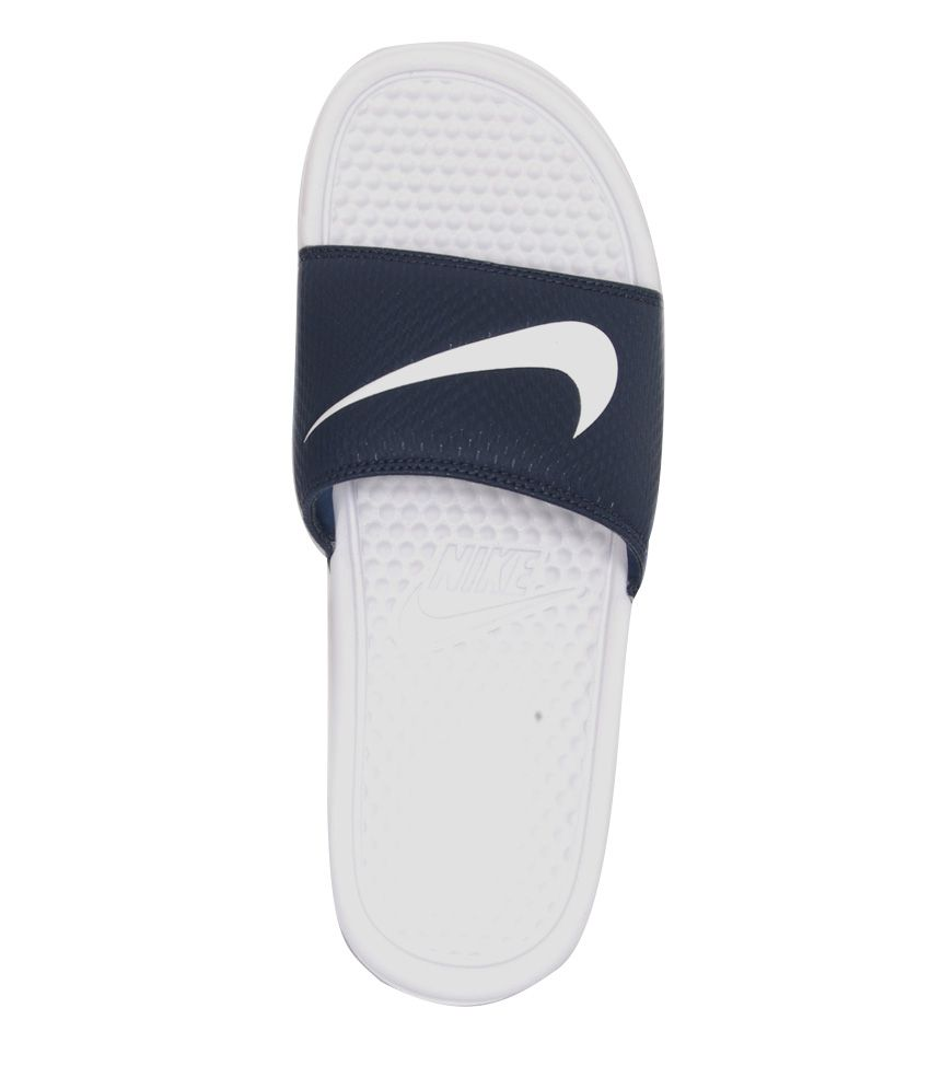 purchase cheap cd287 2e459 Nike Benassi Swoosh White Slippers