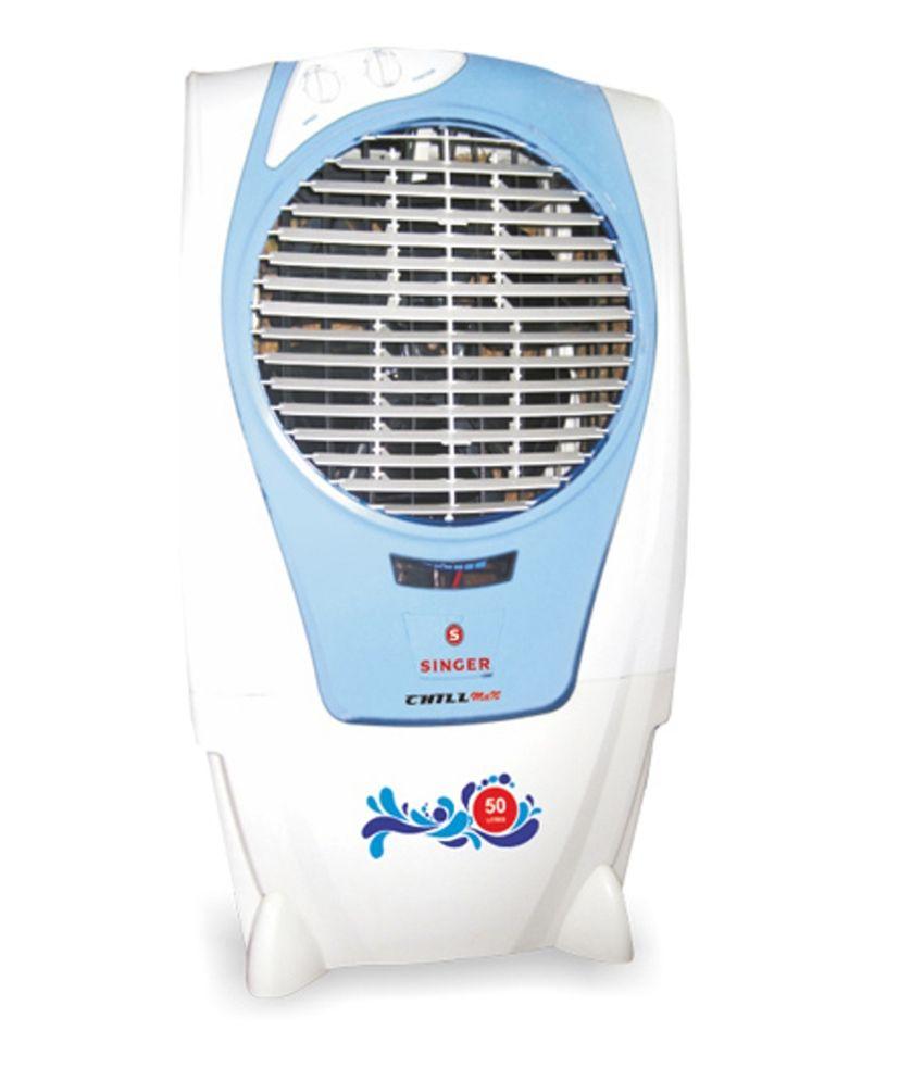 Singer 50 Ltr Chillmax Desert Cooler White & Blue