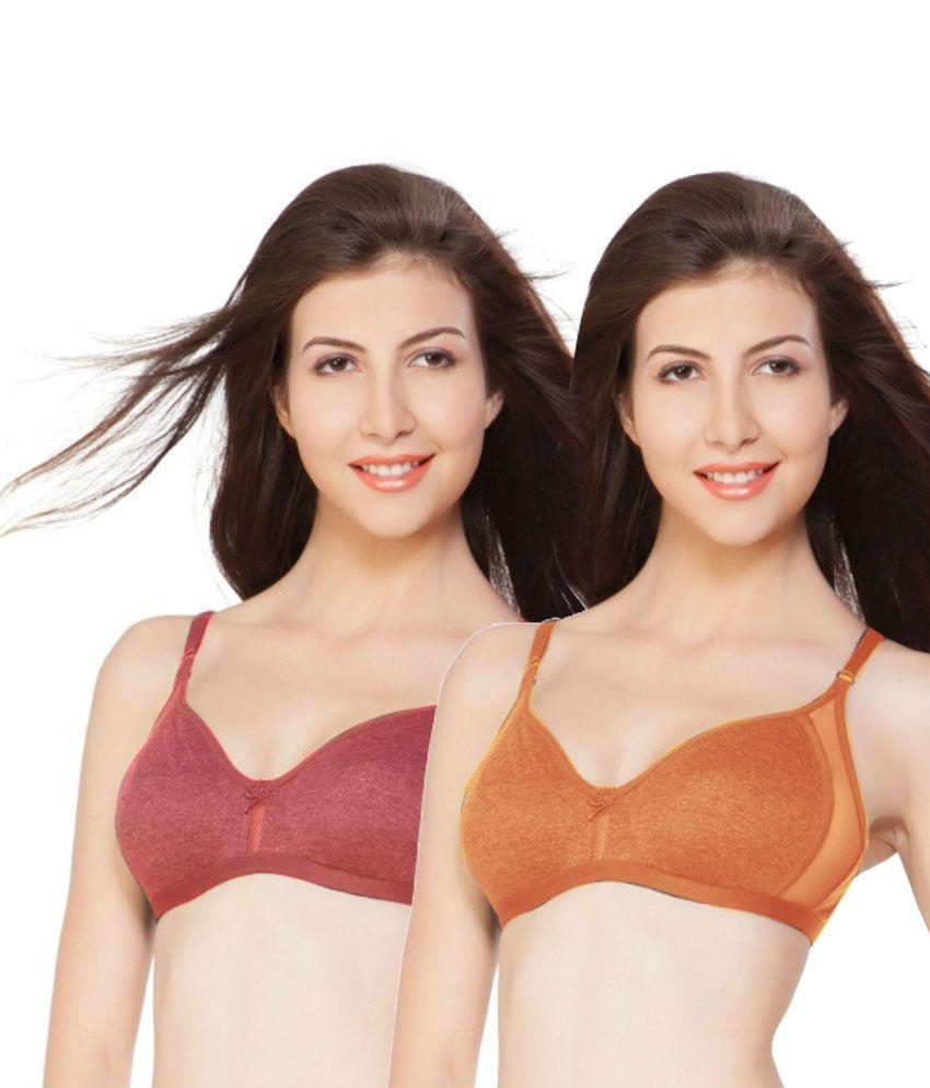 de2ec02a99 Nagina Orange Cotton Bra Price in India