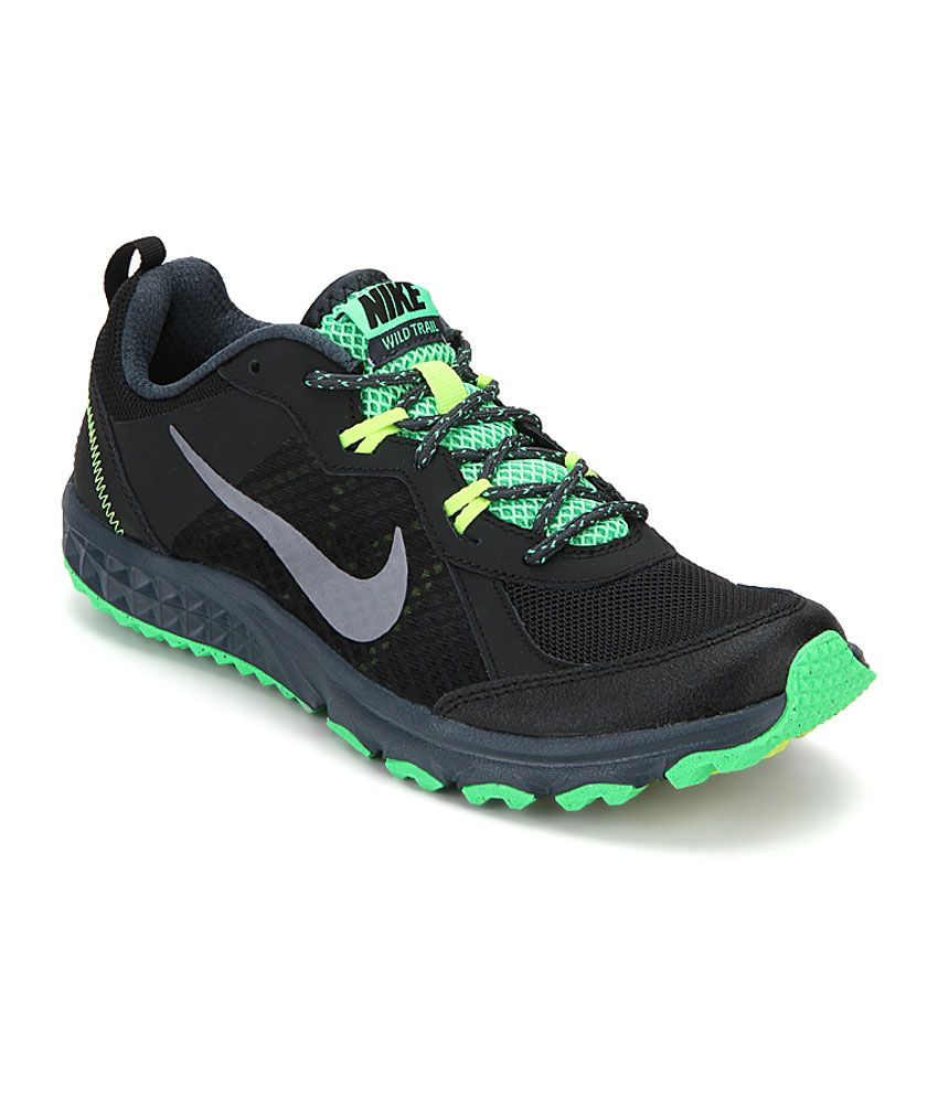 the latest 2f9de 22c8d Nike Wild Trail Black Running Shoes