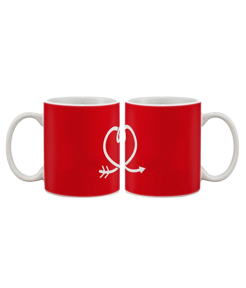 Artifa Heart Arrow Coffee Mug