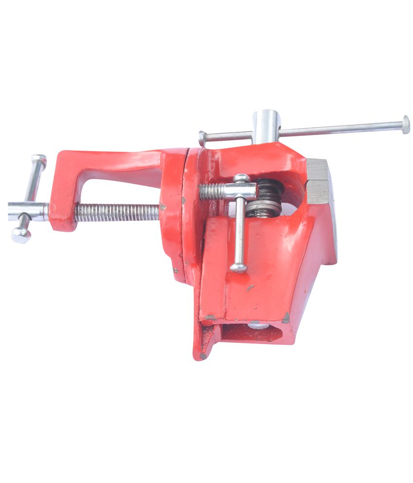 Rajhans Red Steel Baby Vice Fixed Base 50mm