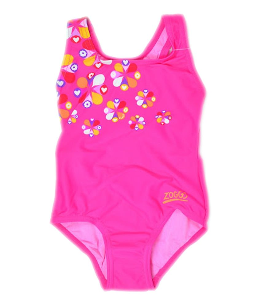 Zoggs Girls Ellis Actionback Swimwear Pink22 96429722/ Swimming Costume
