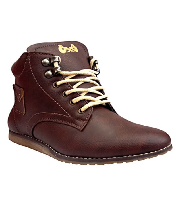 Friends Traders Brown Synthetic Leather Boots