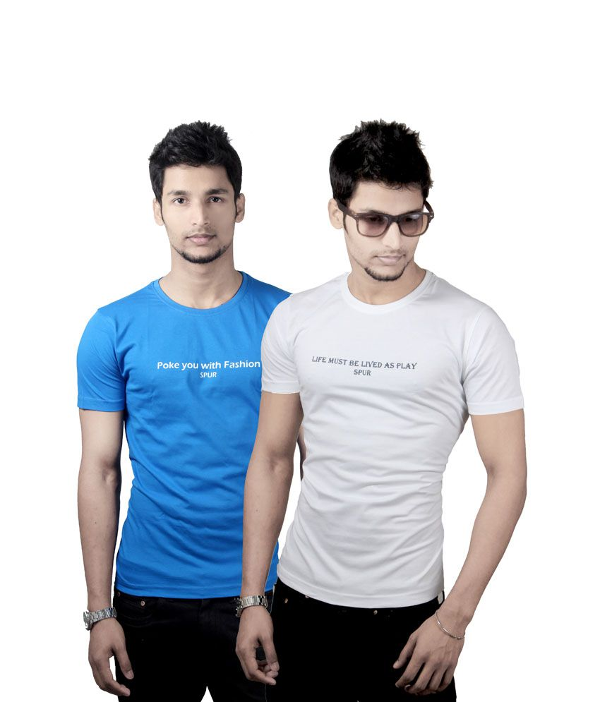 Quotation Printed Round Neck - Combo of 2