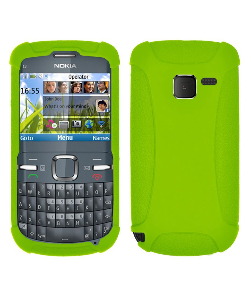 new product d6039 7110a Amzer Green Back Cover Case For Nokia C3