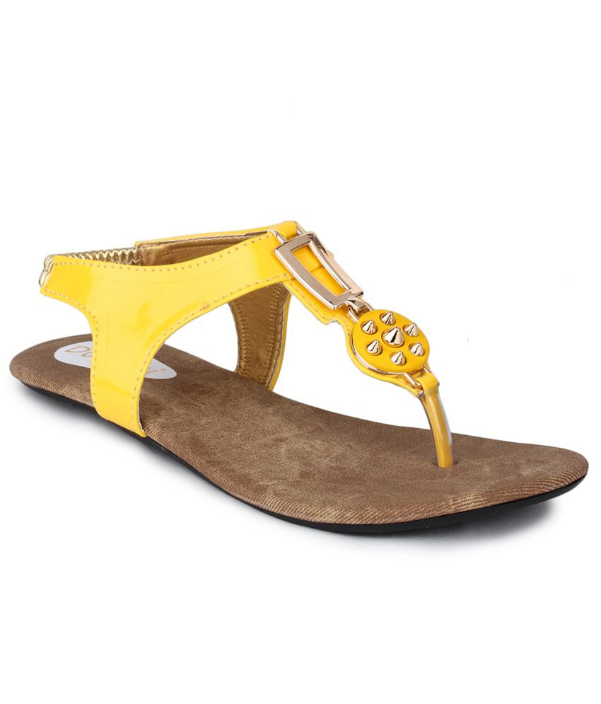 Do Bhai Yellow Back Strap Daily Wear Sandal