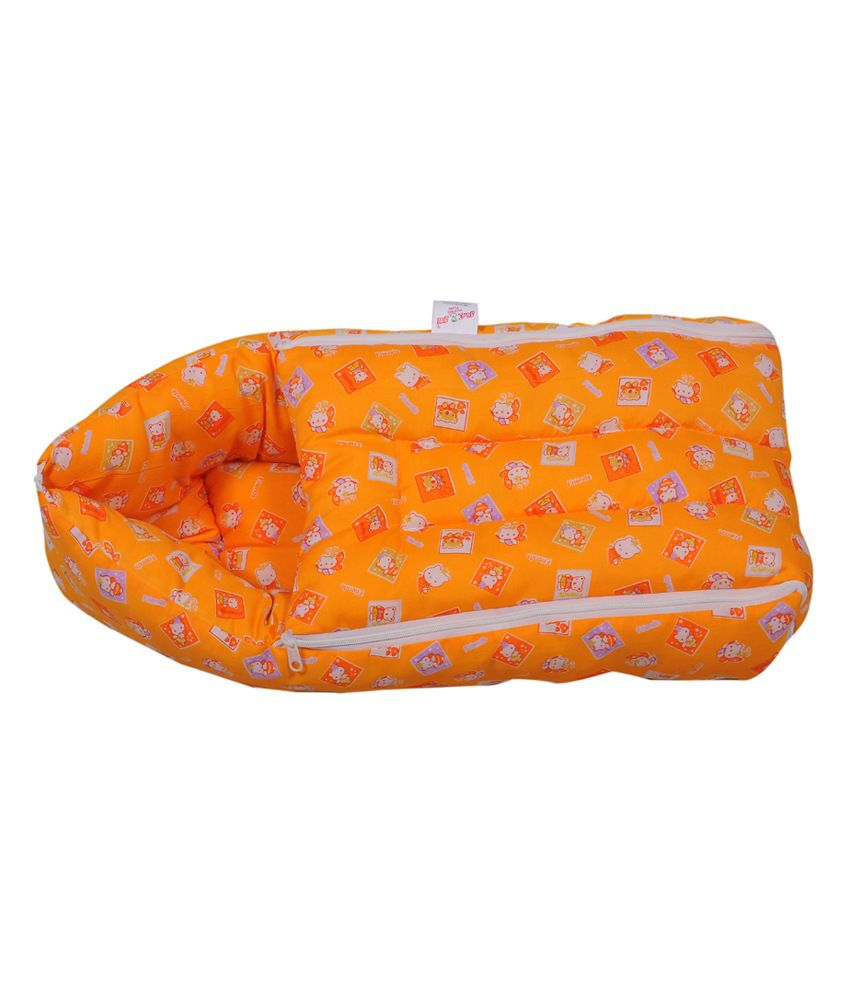 Jack & Jill Baby Bedding set Baby Carrier cum Sleeping Bag for New Born - Orange