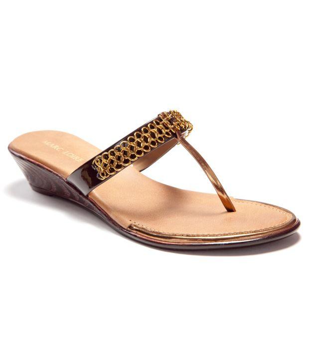 Marc Loire Brown Wedges Sandals