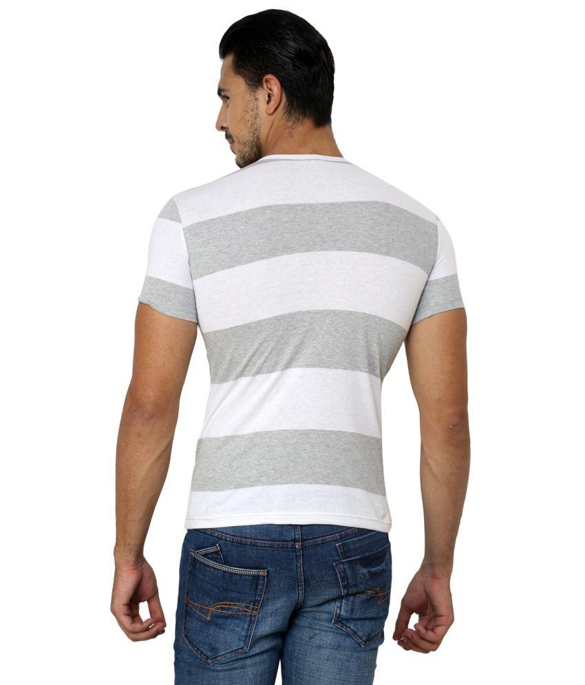 Ebry Gray Cotton Half Sleeve T-Shirt