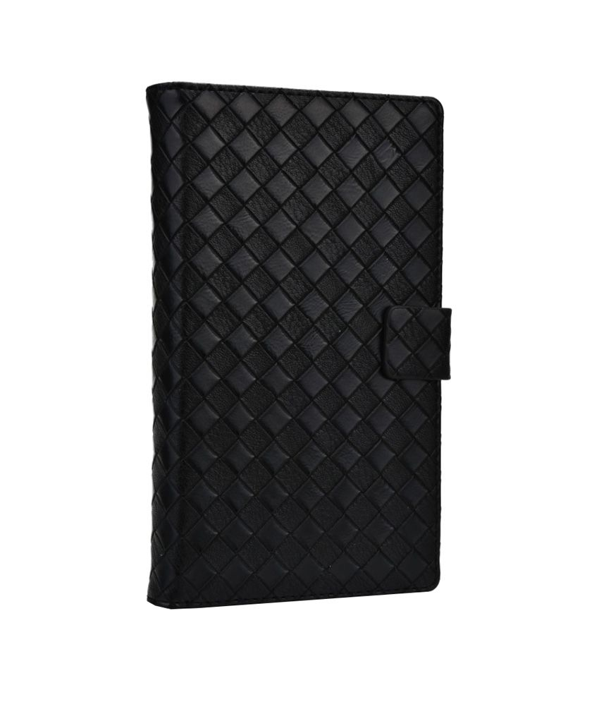 Jo Jo Bali Series Leather Flip Cover for Alcatel One Touch Flash - Black