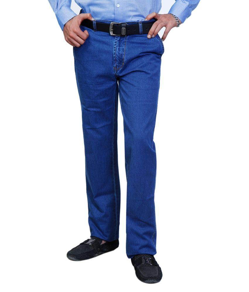 Sparky Blue Cotton Basics Regular Fit Jeans
