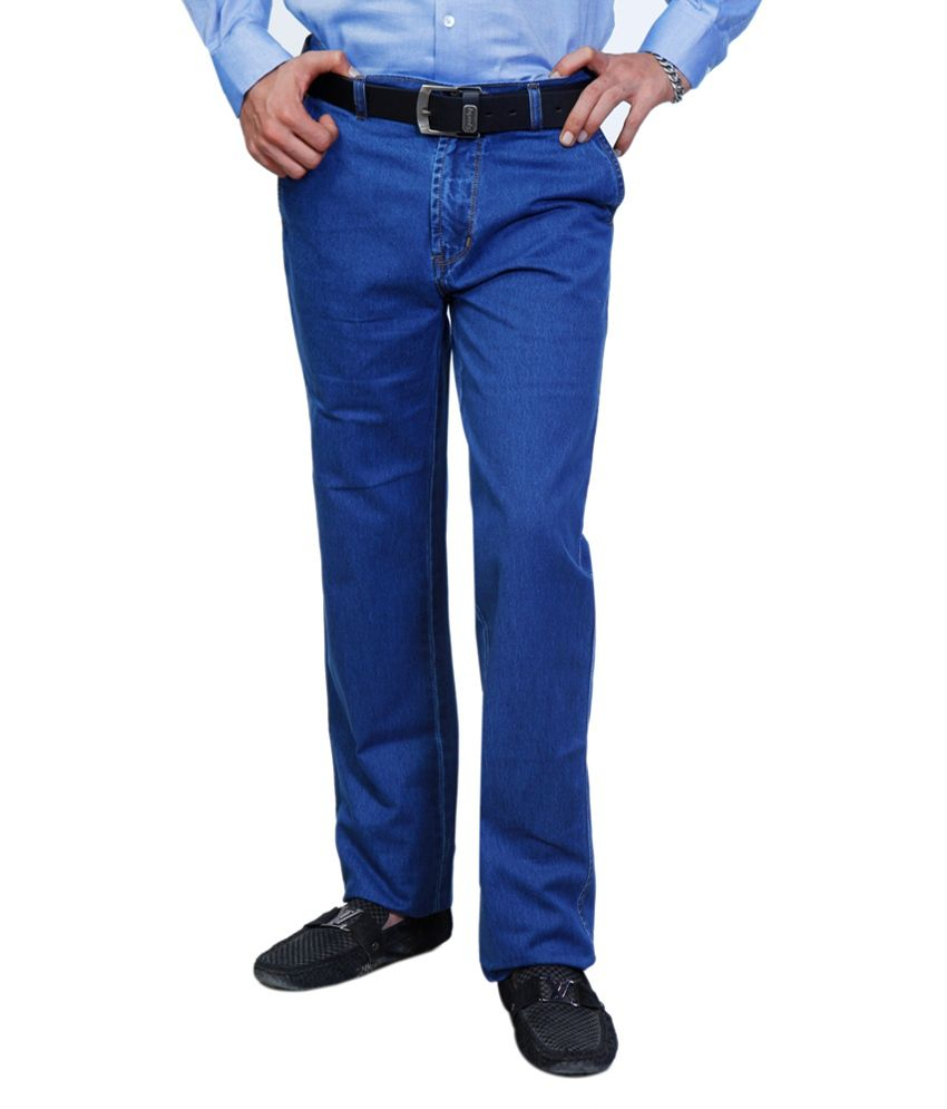 Sparky Blue Cotton Basics Regular Fit Jeans