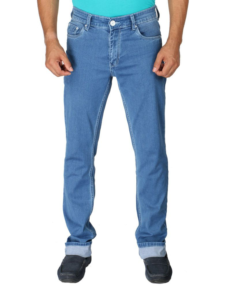 Streetguys Blue Cotton Slim fit Jeans