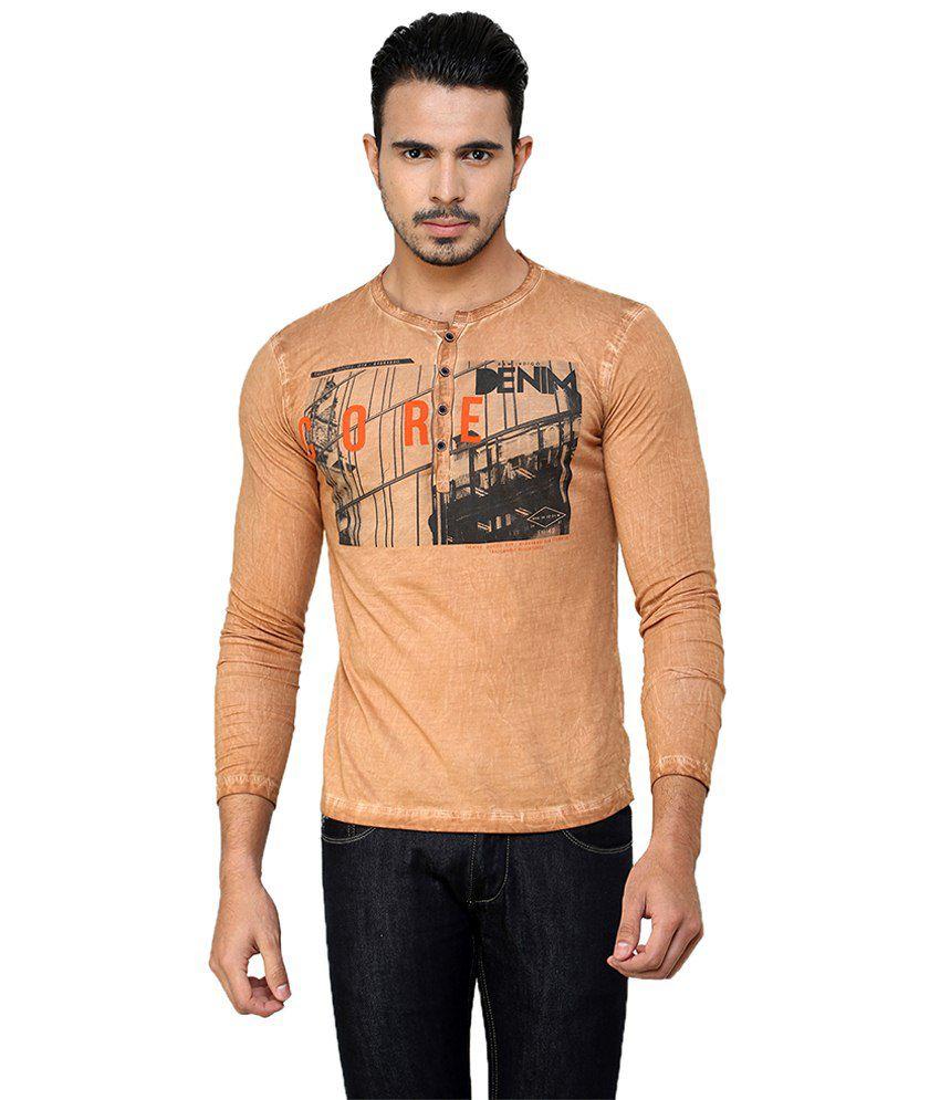 Meltin Multicolor Cotton Henley Full Sleeves T-shirt