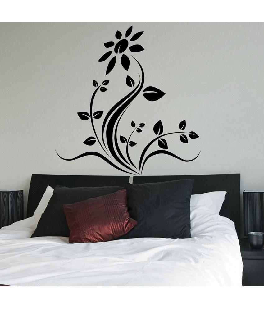 wall decals stickers deals paisawapas com 69 off on decor kafe decal style rose floral wall sticker