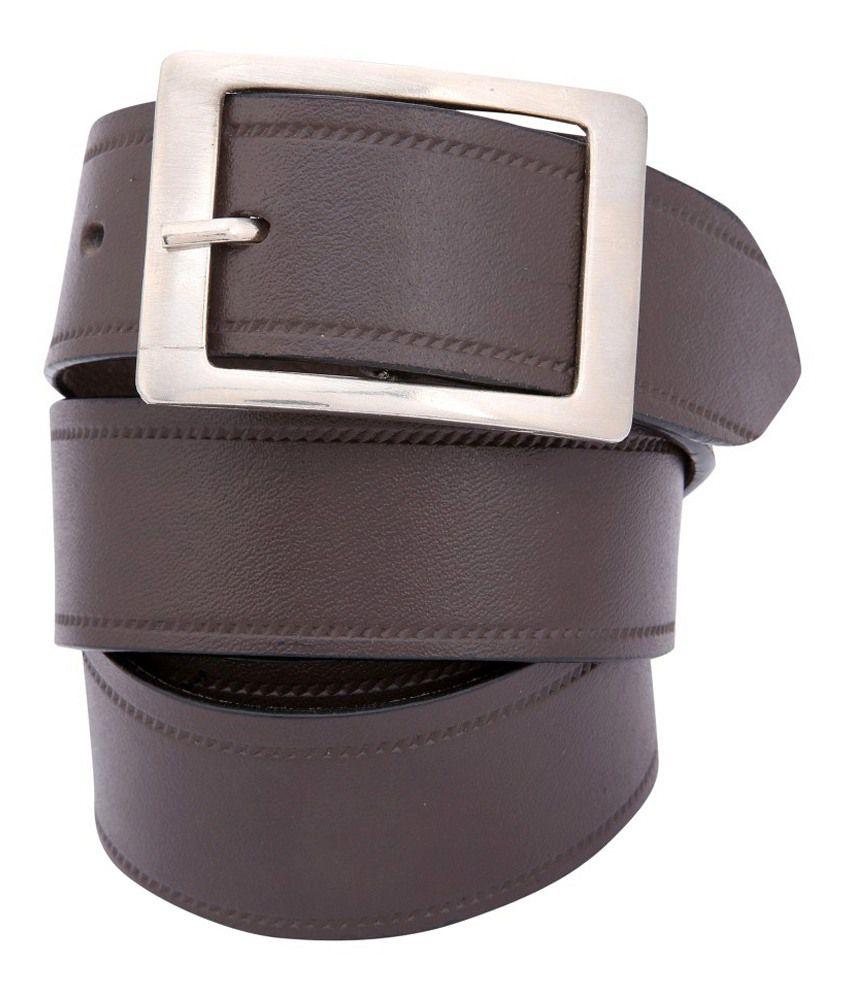 Dharavi Market Genuine Leather Brown Super Classic Belt