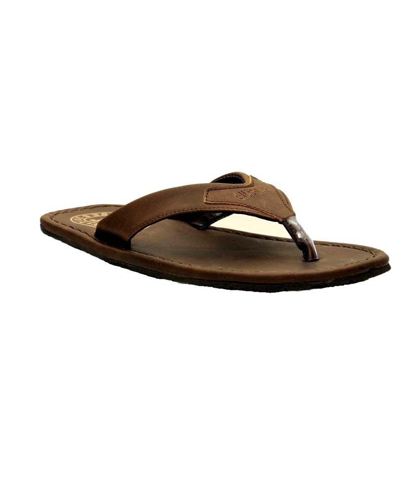 049deba84ade72 Guardian Brown Leather Flip Flops For Men Price in India- Buy Guardian  Brown Leather Flip Flops For Men Online at Snapdeal