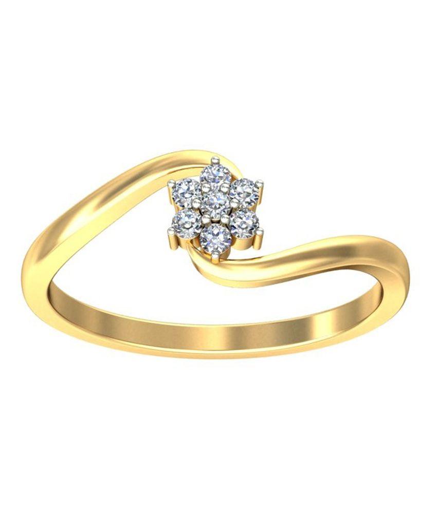 Jewelsnext 18kt Gold Contemporary Tova Diamond Ring