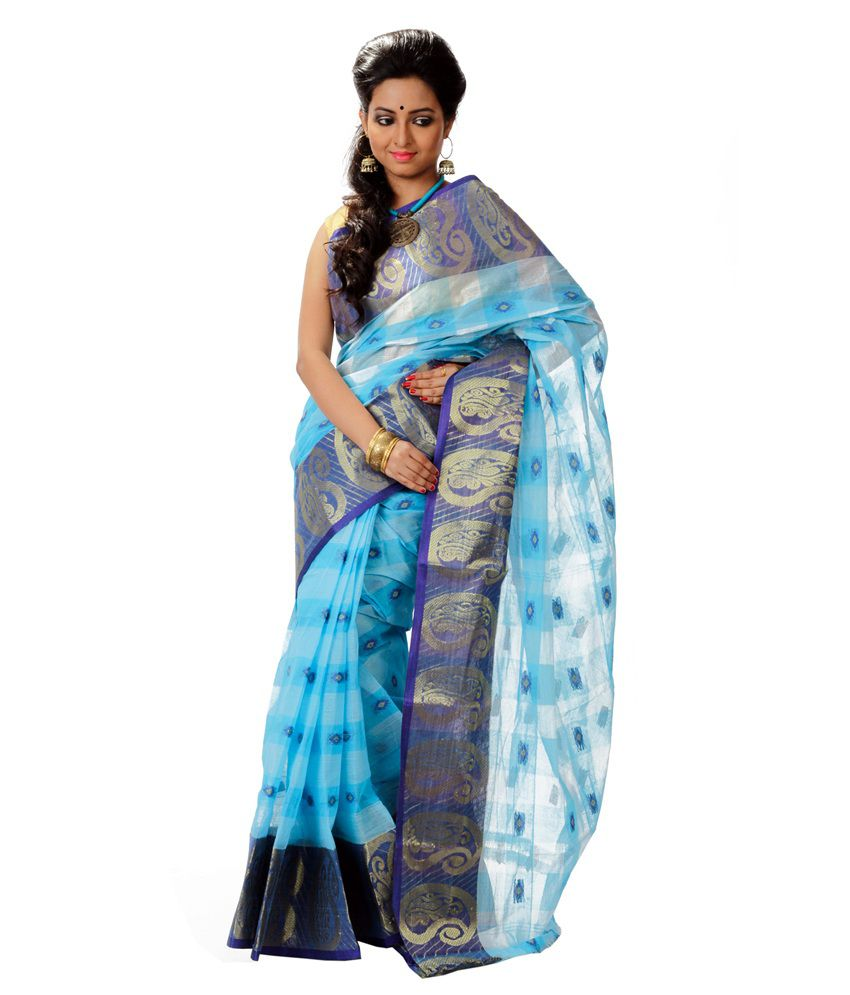 Aadrika Multi Color Cotton Bengal Tant Saree