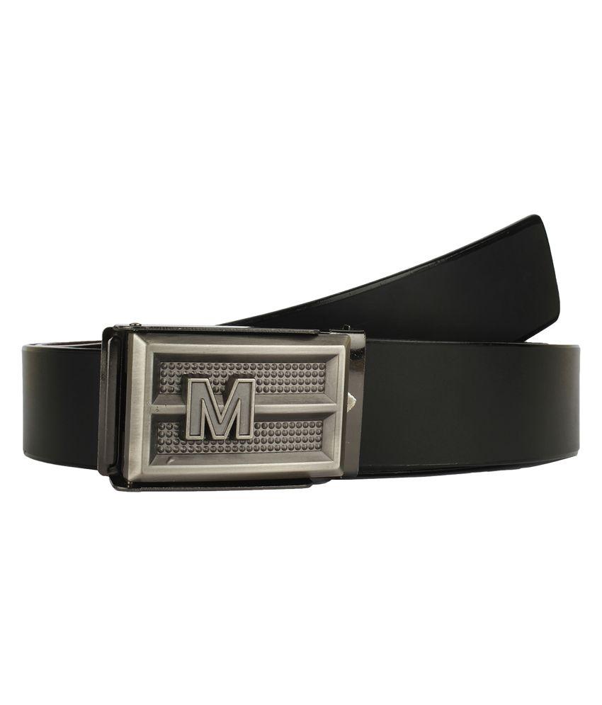 Dns Black Non Leather Autolock Buckle Belt
