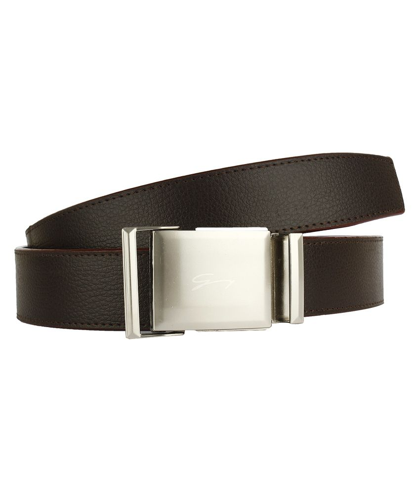 Dns Brown Non Leather Autolock Buckle Belt