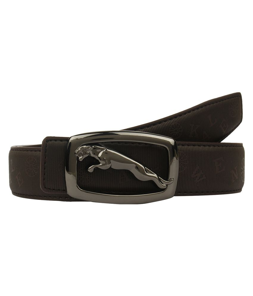 Dns Brown Non Leather Pin Buckle Belt