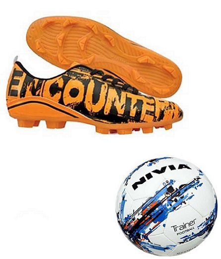 891b7bb72602 Nivia Encounter With Nivia Trainer Football   Ball Combo (Orange)  Buy  Online at Best Price on Snapdeal