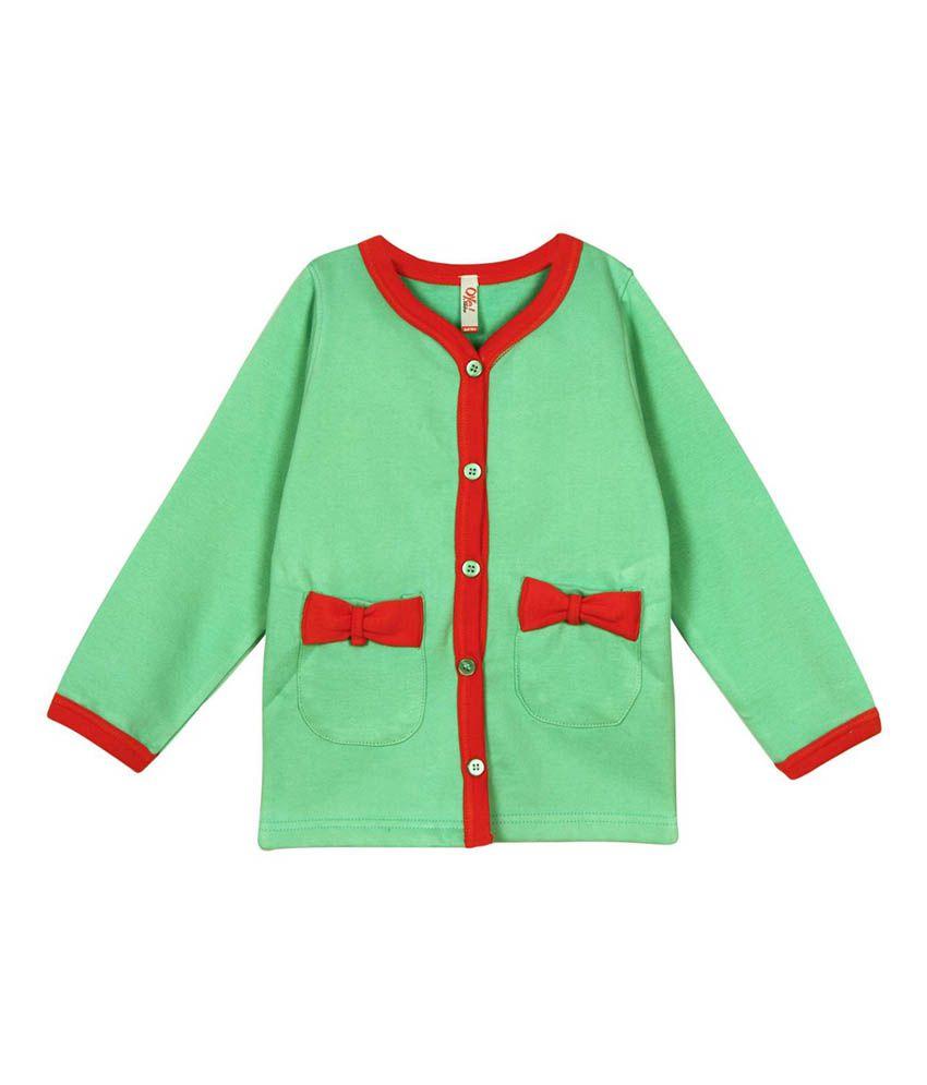 Oye Green Cotton Sweatshirt