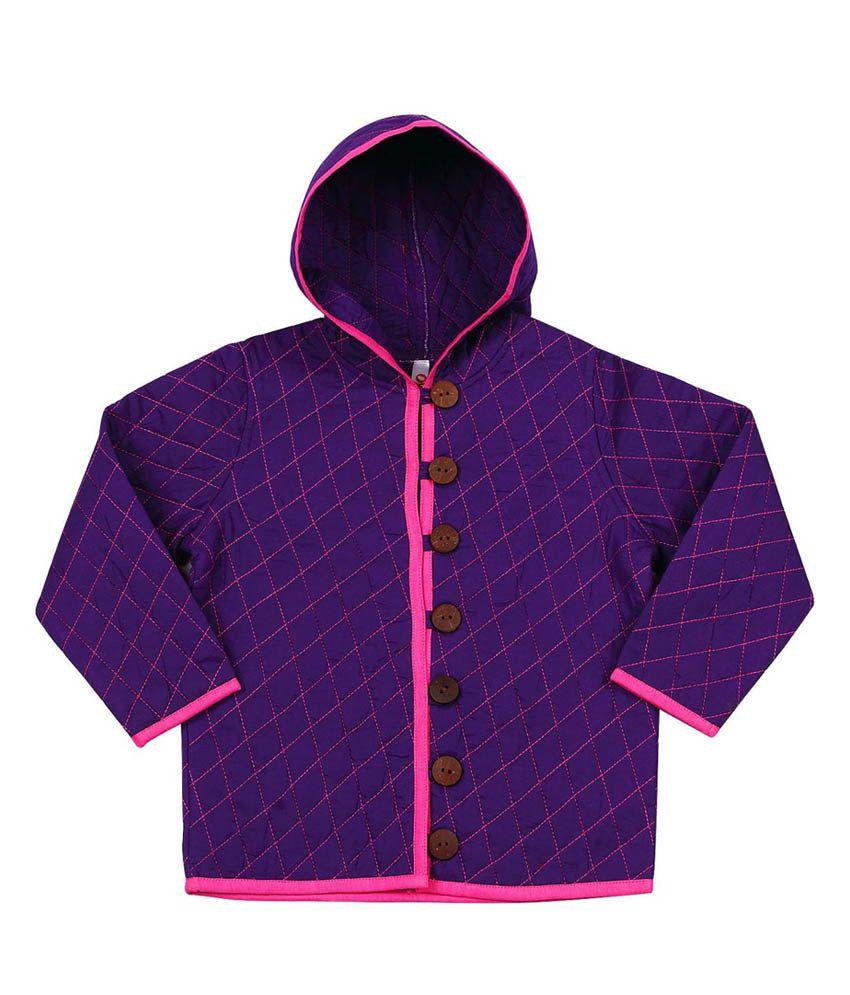 Oye Purple Cotton Jacket
