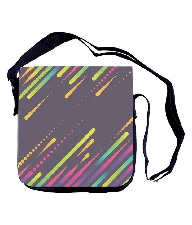Shaildha Black Color Canvas Sling Bag with Detachable Flap.