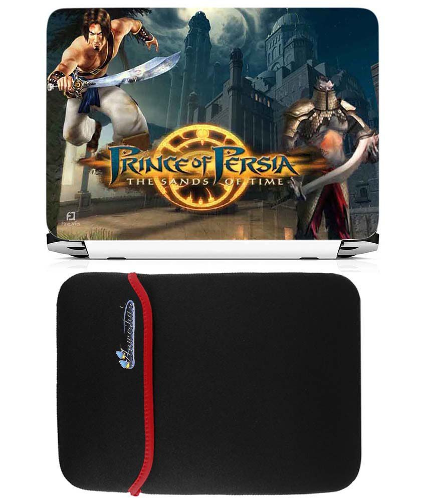 Anwesha's Reversible Laptop Sleeve With Laptop Skin 15.6 Inch - Prince Of Persia The Sands Of Time