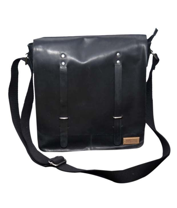 Le Craf Henry Black Stylish Messenger Bag