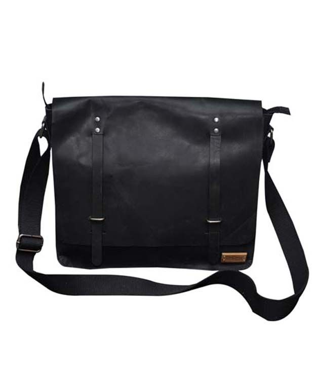 Le Craf Kingston Black Stylish Laptop Bag